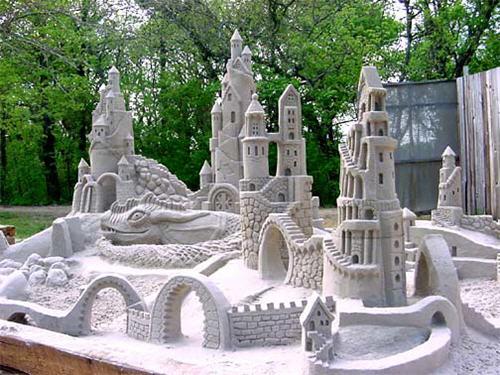 Escultura de arena por Amazing Walter